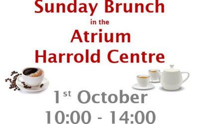 Sunday Brunch at the Harrold Centre 1st October