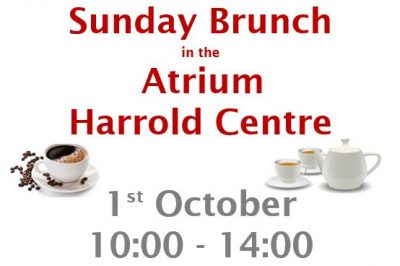 Sunday Brunch at the Harrold Centre 1st October